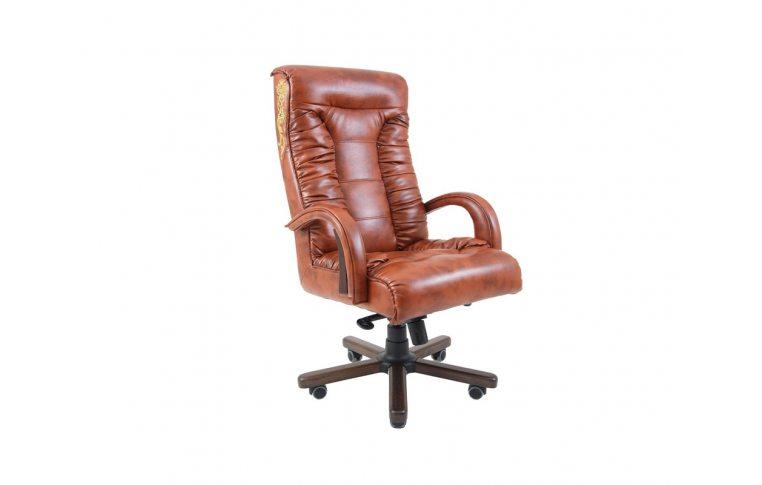 Кресла для руководителя: купить Кресло Оникс Вуд Орех М-2 Титан Дк Браун Richman - 1