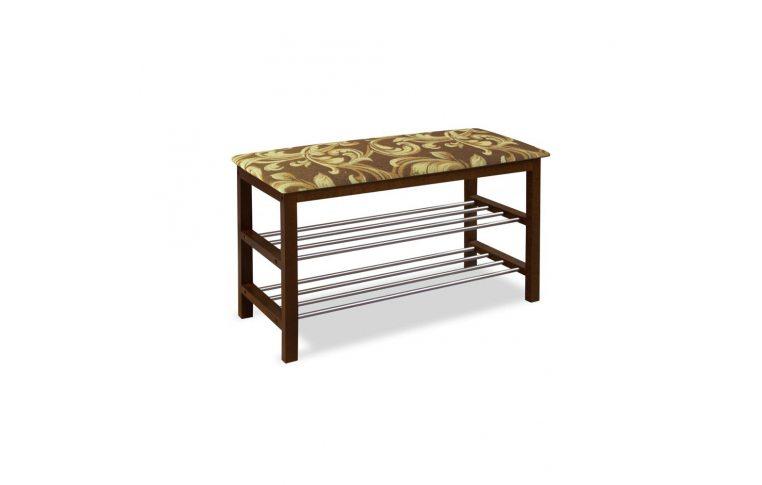 Мягкая мебель: купить Скамейка с подставкой для обуви цв. Орех SR-0628 ТР - 1
