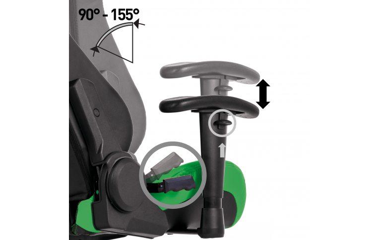 Игровые кресла: купить Кресло для геймеров Hexter ml r1d Eilt pl70 Eco/01 Black/Green - 7