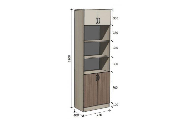 Школьные шкафы: купить Модуль стенка школьная НШ-СГ-1 - 1