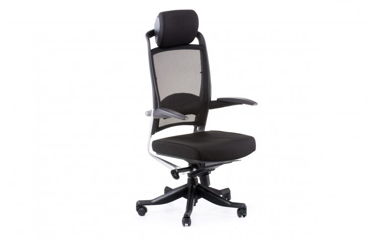 Офисные кресла: купить Кресло FULKRUM BLACK FABRIC, BLACK MESH - 6