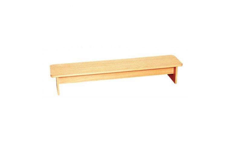 Мебель для детского сада: купить Лавка для переодевания. Покрытие синтетический шпон - 1