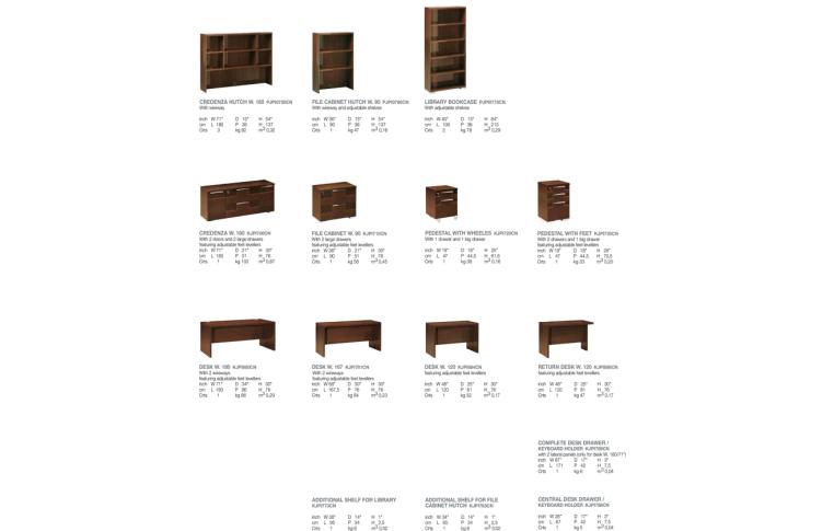 Итальянская мебель: купить Домашний кабинет Pisa Alf Group - 3