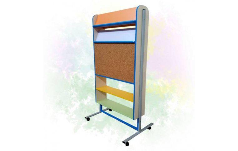 Школьная мебель: купить Тематическая зона (Стеллаж двухсторонний) - 1