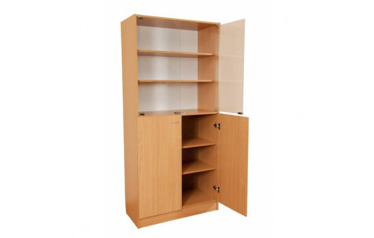 Школьные шкафы: купить Шкаф комбинированный со стеклянными дверями С-027 - 1