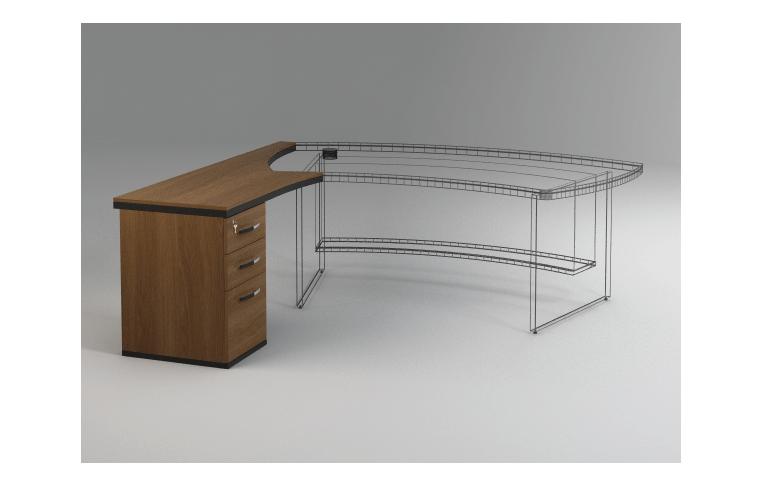 Офисные столы: купить Приставка к столу с тумбой Статус - 1