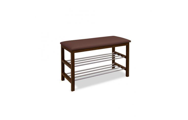 Мягкая мебель: купить Полка для обуви №1 (орех темный) - 1