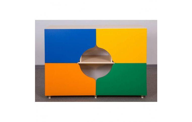 Мебель для детского сада: купить Секция четырехдверная - 1