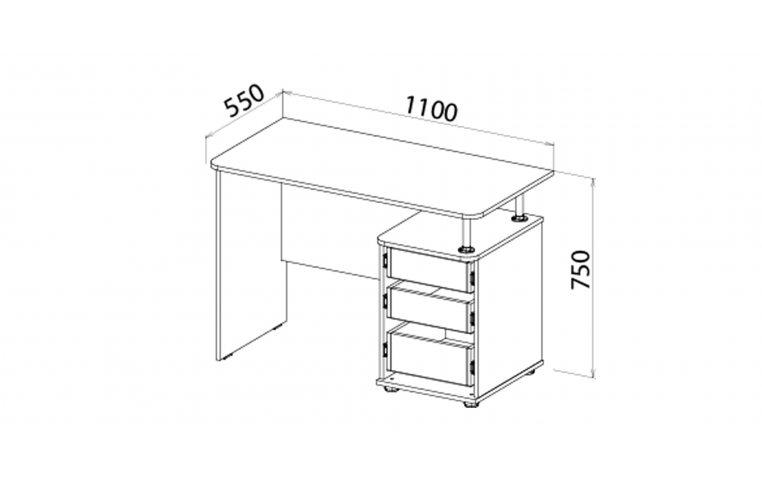 Детская мебель: купить Детский стол Яблоко (Apple) LuxeStudio - 2