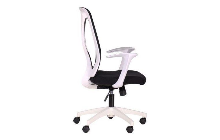 Кресла для руководителя: купить Кресло Nickel White сиденье Сидней 07 спинка Сетка SL-00 черная - 2