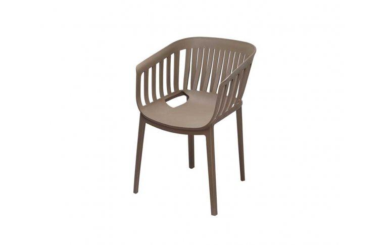 Пластиковые стулья: купить Кресло Патио (Серый) Domini - 1