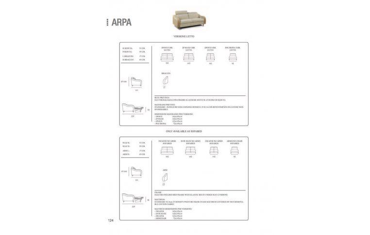 Итальянская мебель: купить Диван трансформер Arpa Cubo Rosso - 3