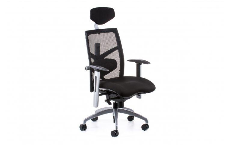 Офисные кресла: купить Кресло EXACT BLACK FABRIC, BLACK MESH - 6
