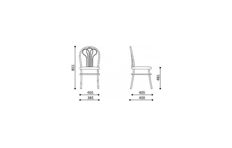: купить Рама металлическая стула Venus Chrome - 2