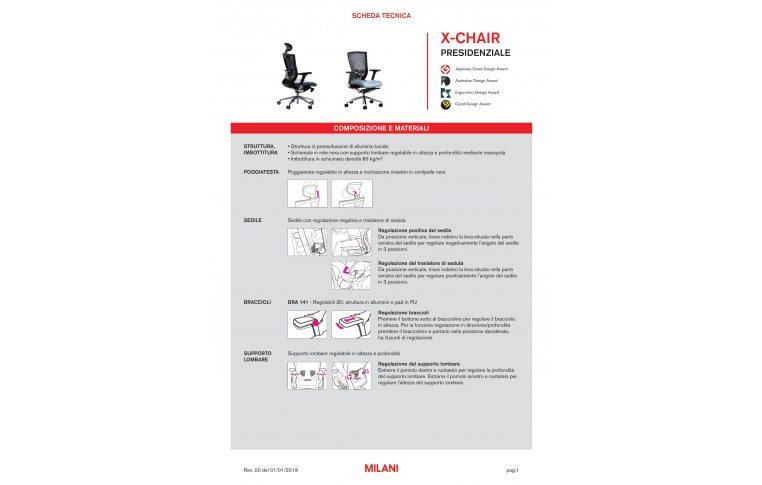 Кресла для руководителя: купить Кресло X-chair Milani - 8