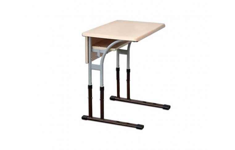 Школьные парты: купить Стол ученический одноместный с регулировкой высоты (столешница - WERZALIT) - 1