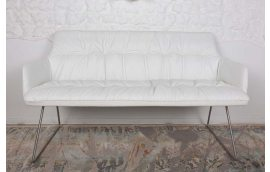 Кресло-банкетка Leon white (Леон белый)
