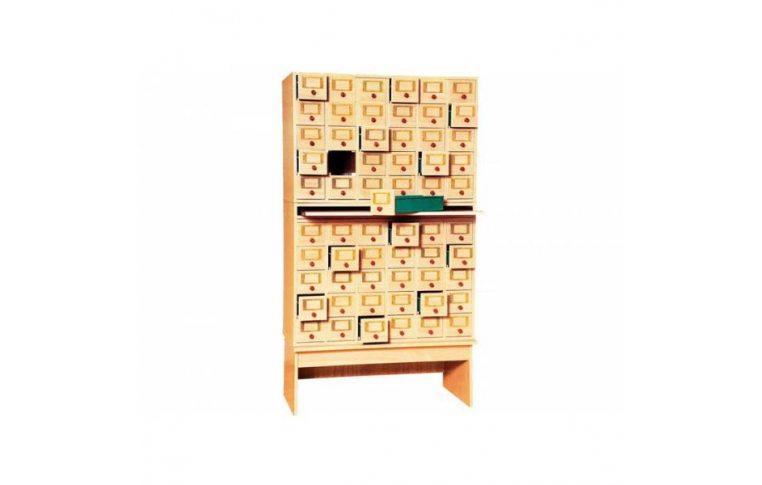 Школьные шкафы: купить Шкаф картотечный на 60 ящиков - 1