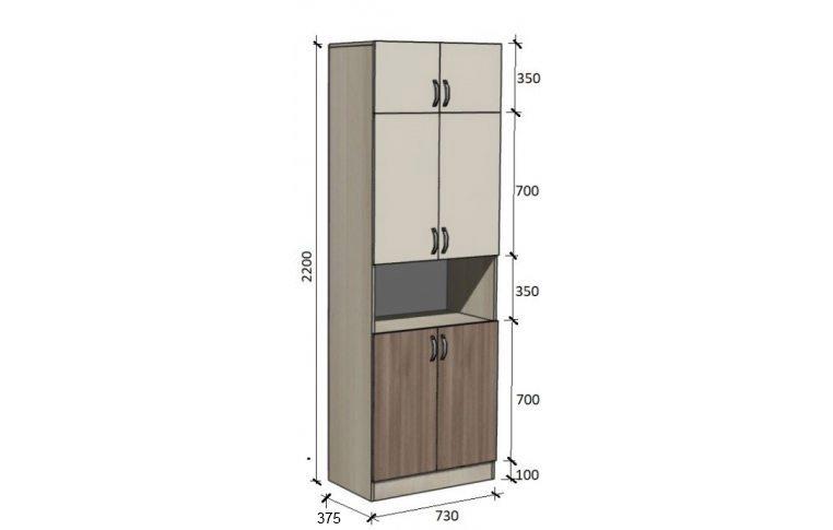 Школьные шкафы: купить Модуль стенка школьная НШ-СГ-2 - 1