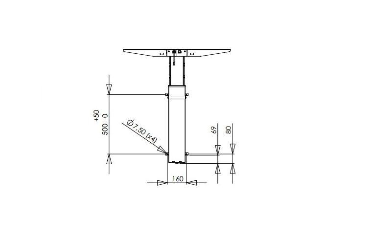 Эргономичные столы: купить Стол одноножный Conset 501-19- 7 Wall - 4
