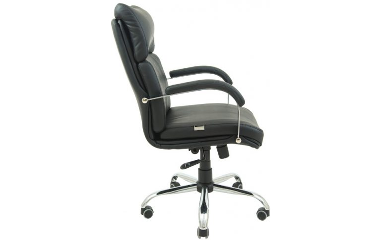 Офисная мебель: купить Кресло Дакота Хром М-1 Титан черный Richman - 3