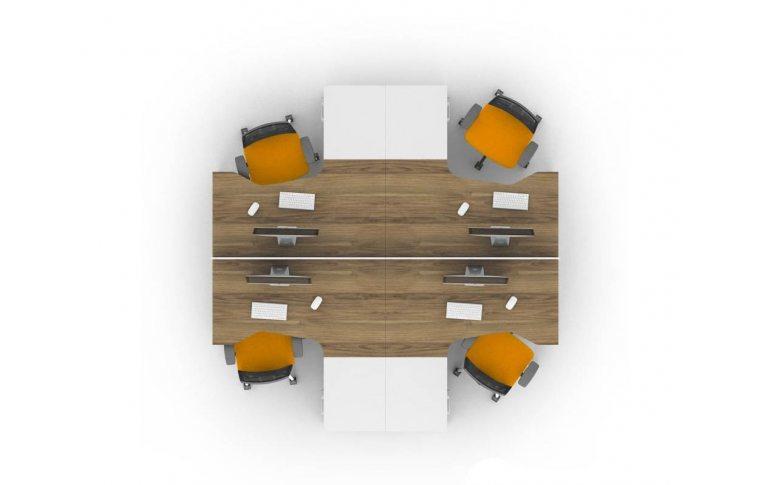 Офисные столы: купить Рабочее место персонала Джет композиция 7 M-Concept - 2