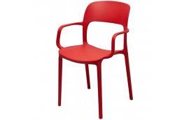 Стул Флекси с подлокотником красный - Пластиковые стулья