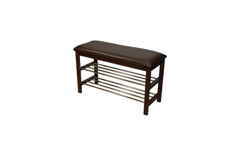 Мягкая мебель: купить Скамейка с подставкой для обуви цв. Орех SR-0628 W - 1