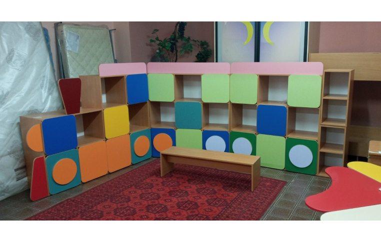 Мебель для детского сада: купить Стенка детская Паровозик - 2