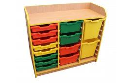 Школьная мебель: купить Тумба под лотки открытая №1 -