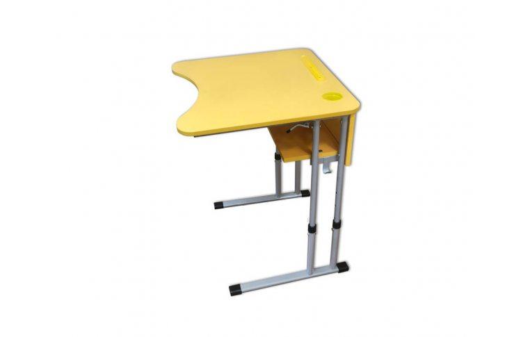 Школьные парты: купить Стол ученический одноместный с регулировкой высоты и угла наклона столешницы 0-7-16 ° - 2