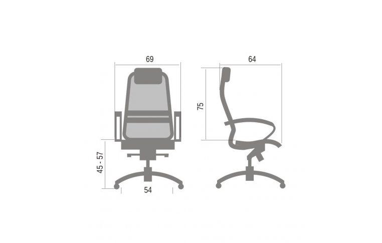 Кресла для руководителя: купить Кресло Samurai K1 Bordo - 5