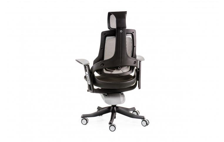 Офисные кресла: купить Кресло WAU BLACK FABRIC, CHARCOAL NETWORK - 4