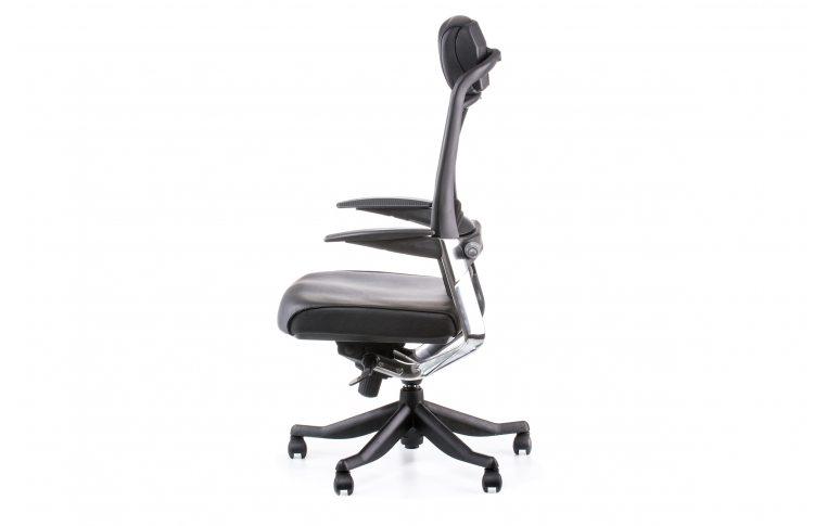 Офисные кресла: купить Кресло FULKRUM BLACK LEATHER, BLACK MESH - 3