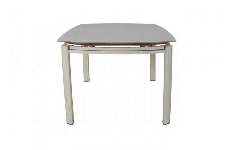 Кухонные столы: купить Раскладной стеклянный стол Коралл бежевый - 3