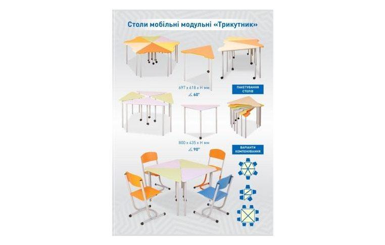 Школьные парты: купить Стол-парта ученический регулируемый по высоте (оранж, 3-6 рост, ширина 605) - 7