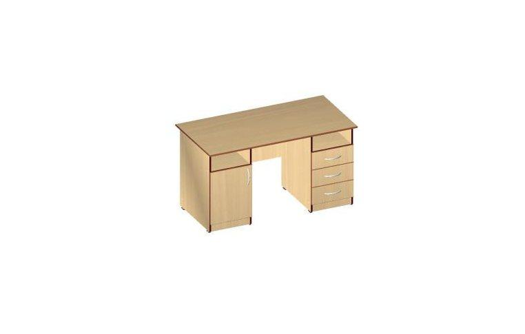 Письменные столы: купить Стол двухтумбовый СД-02 (ДСП кальвадос) - 1