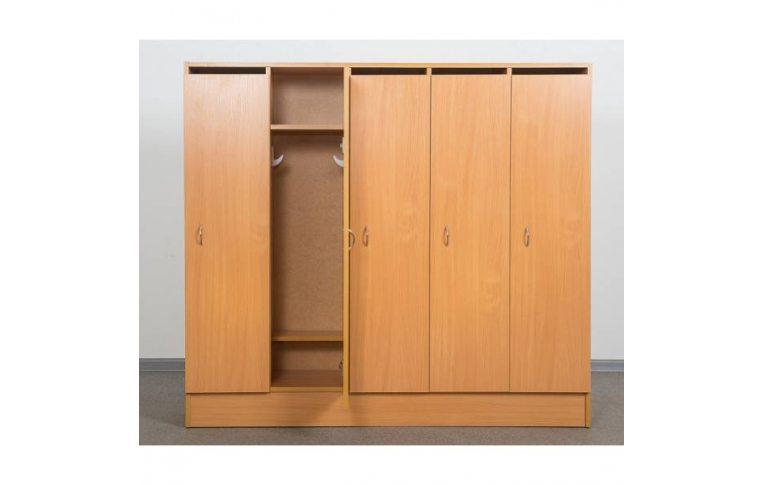 Мебель для детского сада: купить Шкаф для детской одежды (пятиместный) - 1