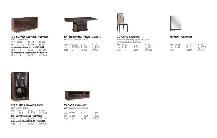Итальянская мебель: купить Столовая в современном стиле Eva - 2