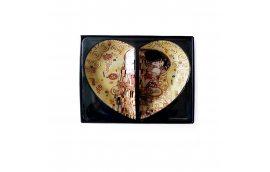 Декор для дома: купить Набор стеклянных тарелок Г.Климт «Поцелуй»