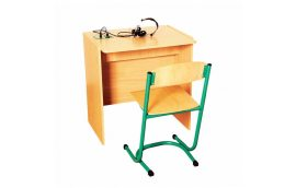 Школьные парты: купить Стол ученический для лингафонного кабинета, одноместный