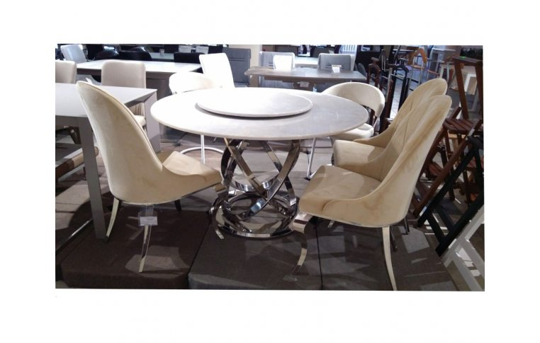 Кухонные столы: купить Круглый обеденный стол из Мрамора Decor Furniture - 3