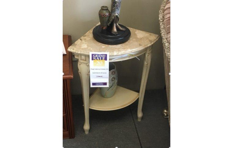 Журнальные столы: купить Подставка угловая мраморная - 1