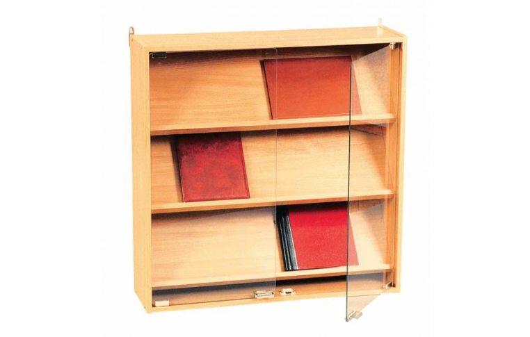 Школьные шкафы: купить Витрина настенная со стеклянными дверями - 1