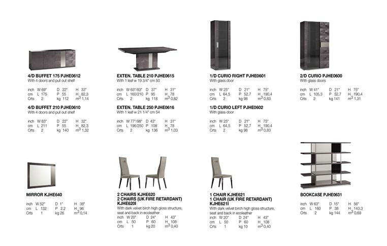 Итальянская мебель для столовой: купить Столовая в современном стиле Heritag Alf Group - 2
