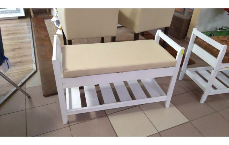 Мягкая мебель: купить Полка для обуви №2 белая - 1