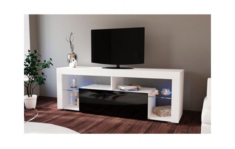 Тумбы под телевизор: купить Тумба под ТВ Hugo 160 черный/белый Accord - 1