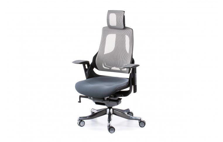 Кресла для руководителя: купить Кресло WAU SLATEGREY FABRIC, SNOWY NETWORK - 1