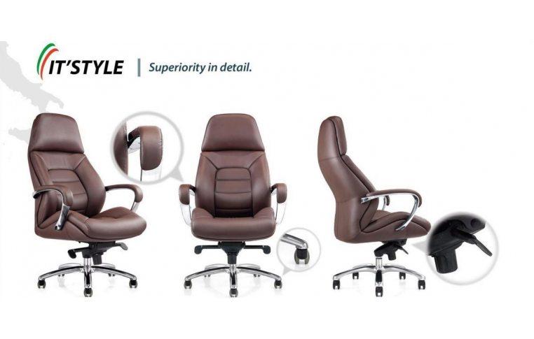 Кресла для руководителя: купить Кресло F181 коричневый - 2
