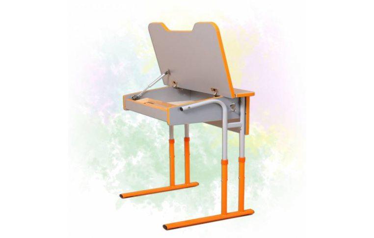 Школьные парты: купить Стол-парта ученический регулируемый по высоте (оранж, 3-6 рост, ширина 705) - 1